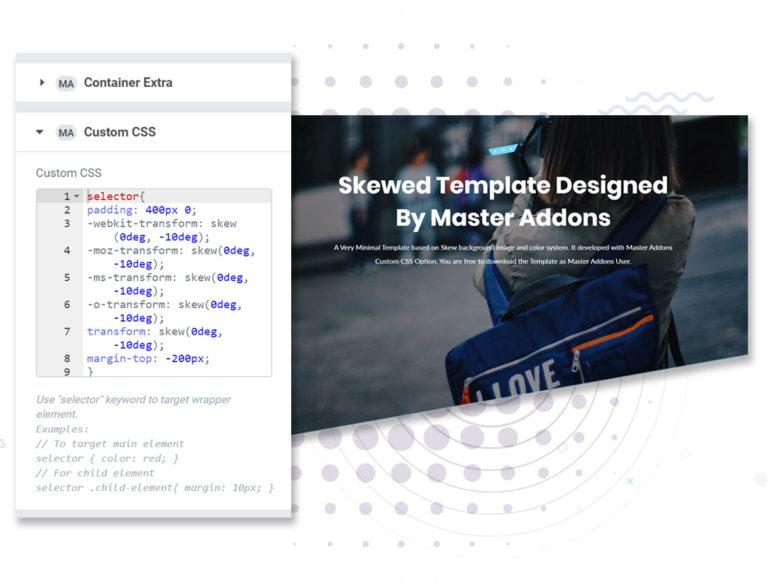 CSS سفارشی برای المنتور