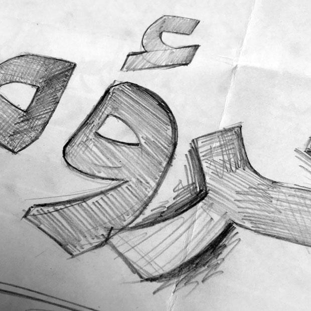 طراحی حروف
